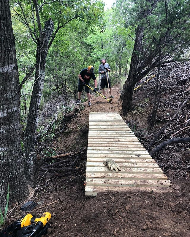 Today the trail became legitimate. It's earned its position in the last year so now the paid for materials are incorporated.