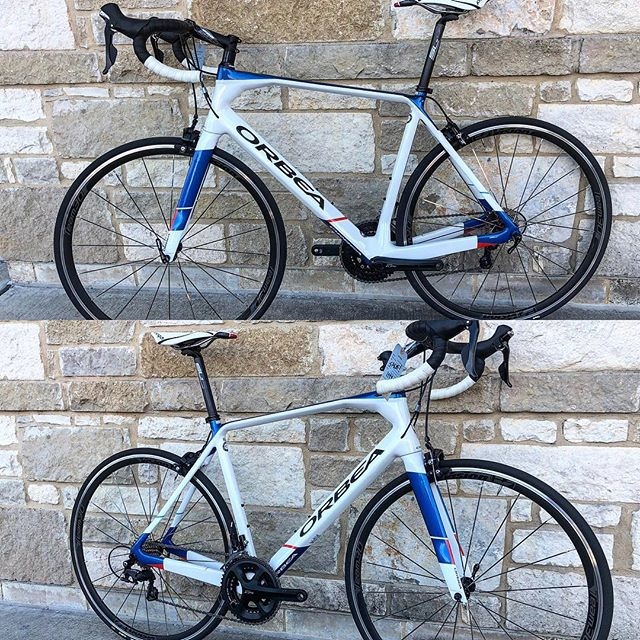 Hi there. Here's today's super deal at our Parmer location. It's a 57cm Orbea Orca M30 Carbon 11speed 105 bike. New. $1500 takes it. Retail was $3000. It's one of the best handling road bikes out there and goes uphill with a vengeance- assuming you push down on the pedals.