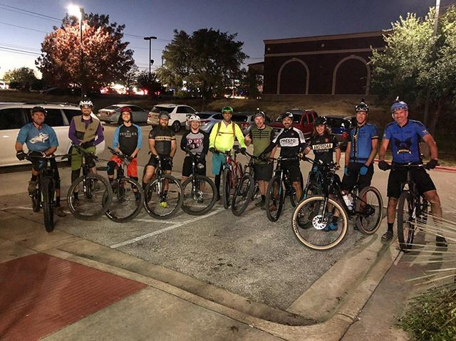 We had a pretty awesome ride last night. We all got to welcome Javy back to his first off road ride since his wrist injury. 11 riders showed up after not having a Wednesday ride in quite a while. What a fun group that was.